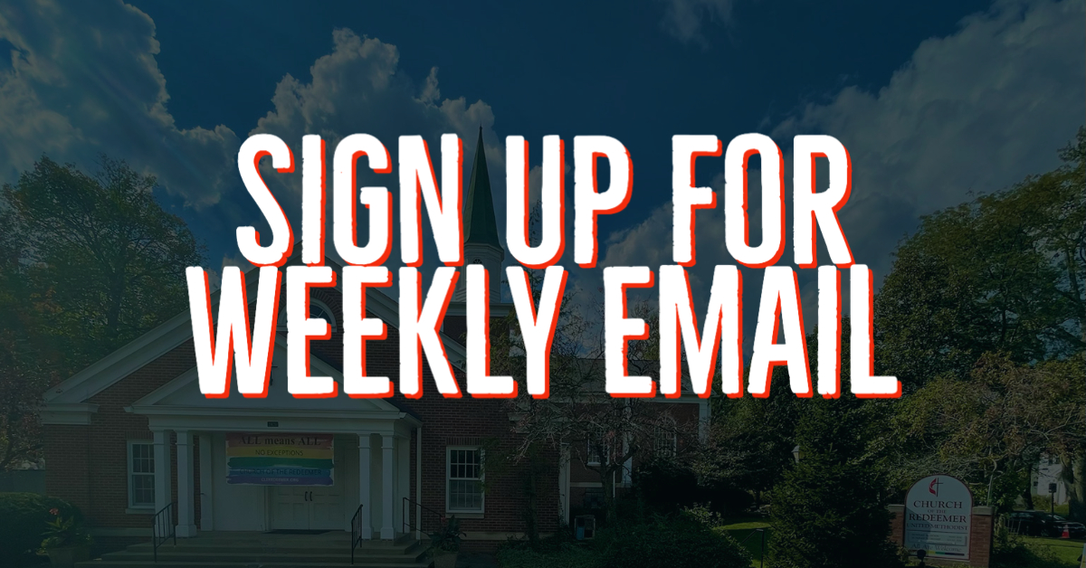 Sign up for weekly email
